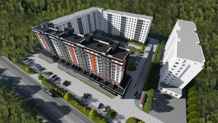 ЖК Вінницький, на етапі будівництва 2 під'їзда, на етапі введення будинку в експлуатацію 4 під'їзди