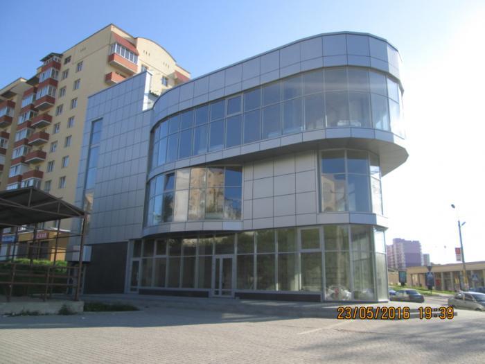 3-поверховий центр комерційно-ділової діяльності, вул. Панаса Мирного, 18-В в м. Хмельницькому